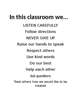 In this classroom we... (Poster)