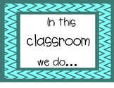In this classroom we do...
