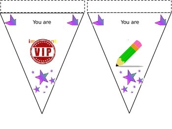 In this classroom you are... display bunting