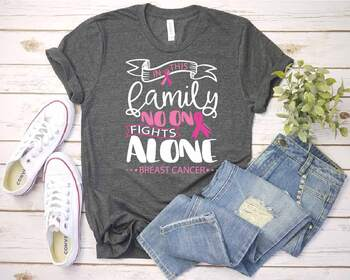 In this family nobody fights alone Breast Cancer svg Cancer SVG Awareness 1519s