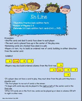 InLine (basic addition fact practice)
