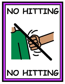 Inappropriate Behavior Posters