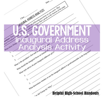 Inaugural Address Analysis Activity