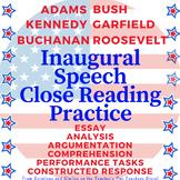 Close Reading BUNDLE! Inaugural Speech Non-Fiction Analysis