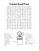 Inauguration Day – Donald Trump -  Word Search & Maze! (color & black line)