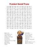 Inauguration Day – Donald Trump -  Word Search & Maze! (color version)