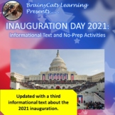 Inauguration Day 2017:  Informational Text and No-Prep Activities