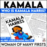 Kamala Harris Reading Comprehension Passages Unit | Women's History Month