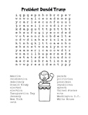 Inauguration Day – President Donald Trump - Word Search! (black line version)
