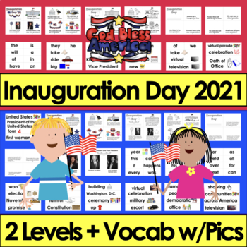 Inauguration Day 2017 Readers Differentiated for Kindergarten and First Grade