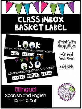 Inbox Basket Label