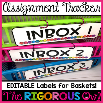 Inbox Labels and Assignment Classroom Management System EDITABLE