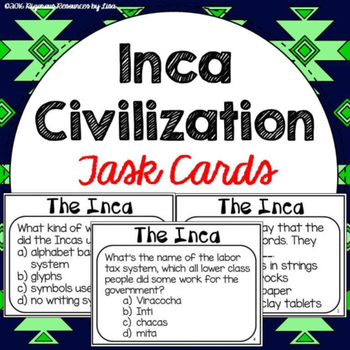 Inca Civilization Task Cards