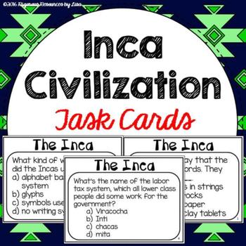 Inca Civilization Task Cards