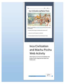 Inca Civilization and Machu Picchu Web Activity