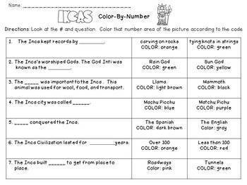 Inca Color-By-Number