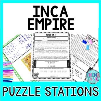 Inca Empire PUZZLE STATIONS: Inca Empire, Machu Picchu and Francisco Pizarro