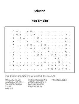 Inca Empire Word Search