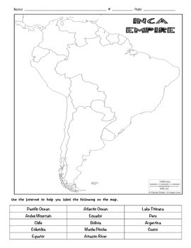 South America and Inca Map