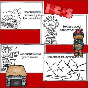 Inca Mini Book for Early Readers - Ancient Civilizations Activities