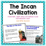 Inca Poster Map and Interactive Notebook INB Set