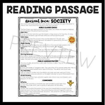Inca Society, Mesoamerica, Ancient Civilizations, Incas