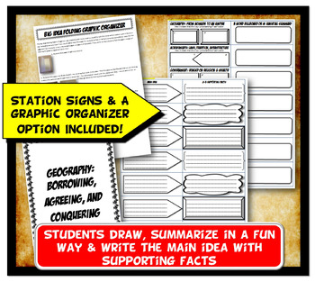 Inca Stations Activity with Graphic Organizer & Foldable Option