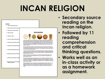 Incan Religion - The Americas - Global/World History