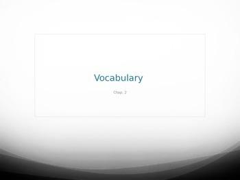 Incantation Vocabulary Chapter 2