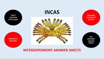 Incas: Interdependent Answer Sheets Activity