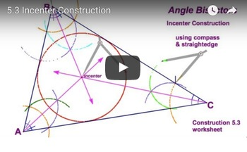 Incenter Compass Construction Worksheet