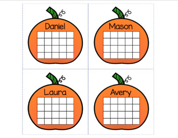 Incentive Sticker Chart (Pumpkin Fall Theme)