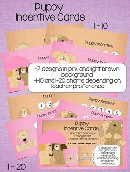 Puppy Incentive Cards