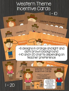 Western Theme Incentive Cards