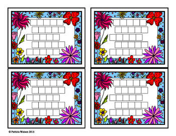 Incentive Chart:  Desktop Flower Theme