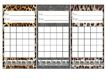 Incentive Chart - Music Notes with Animal Print