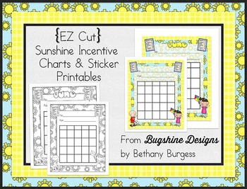 Incentive Chart & Sticker Printables {Summer & Sunshine}