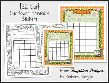 Incentive Chart & Sticker Printables {Sunflowers & Summer}