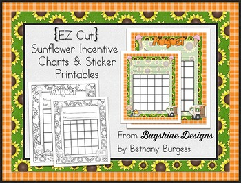 Incentive Chart & Sticker Printables {Sunflowers & Summer}
