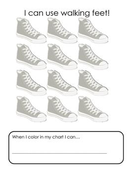 Incentive Chart - Walking Feet
