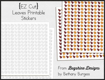 Incentive Chart & Sticker Printables {Leaves & September} Freebie