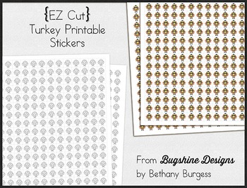 Incentive Chart & Sticker Printables {November & Turkeys}