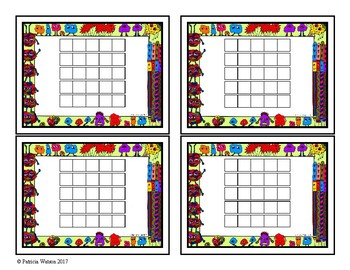 Incentive Chart or Reading Log: Monster Theme