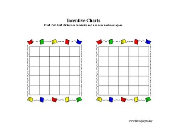 Incentive Charts: 9 variations to choose from
