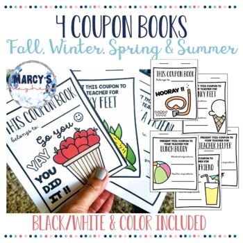 Incentive Chart & Coupon Book for Good Behavior & Rewards Chart End of Year