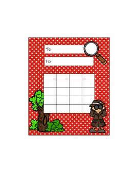 Detective/Mystery/Spy - Incentive Charts {Classroom Theme}