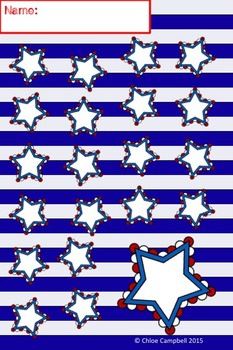 Incentive Charts - Patriotic USA Flag Red, White, Blue Theme