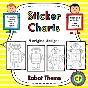 Incentive Charts - Robot Sticker Charts #ausbts17