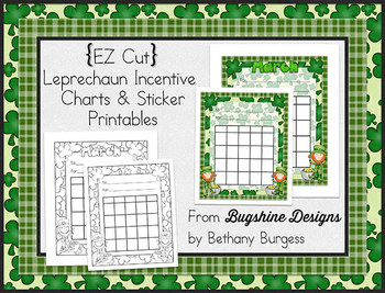 Incentive Charts & Sticker Printables {Leprechauns, Clovers & March}