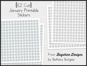 Incentive Charts & Sticker Printables {Snowflakes & January}